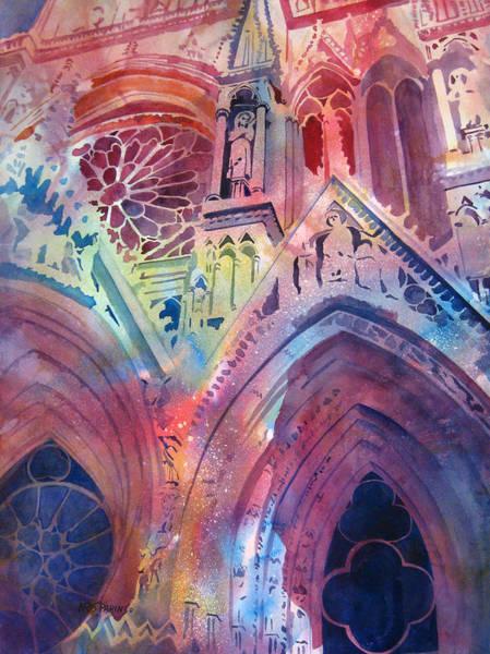Facade Painting - Rose Window by Kris Parins