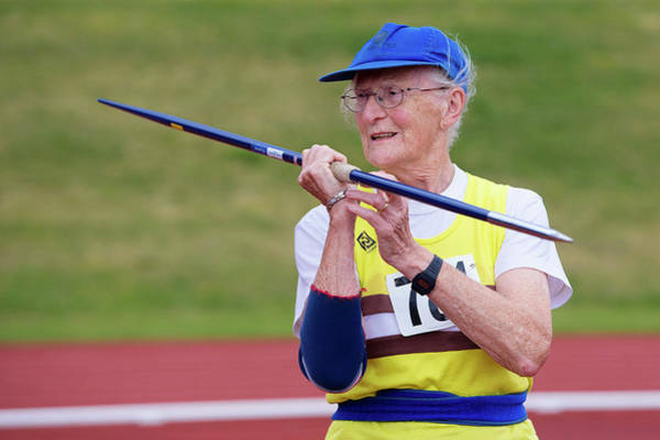Javelin Photograph - Rosemary Chrimes by Alex Rotas