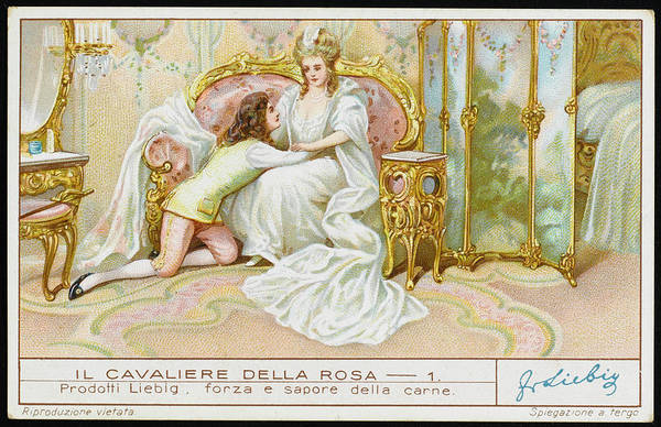 Wall Art - Drawing - Rosenkavalier  The Opening Scene by Mary Evans Picture Library