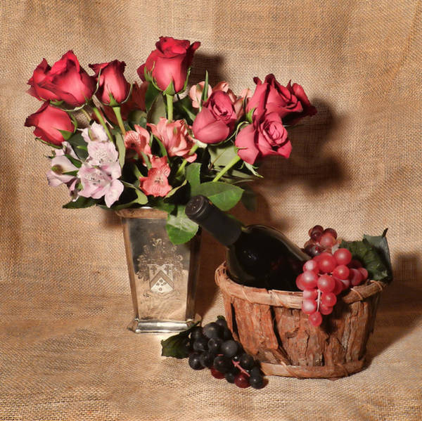 Photograph - Roses And Astroemeria by Grace Dillon