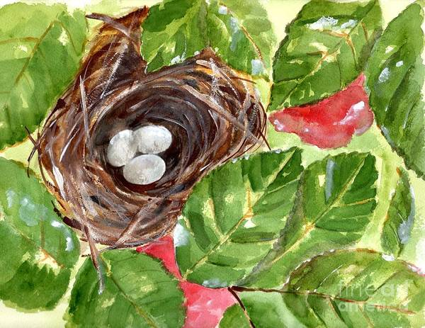 Wall Art - Painting - Roses And Robin's Eggs by Sheryl Heatherly Hawkins