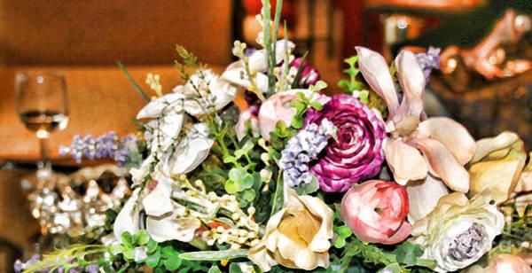 Photograph - Roses And Wine By Diana Sainz by Diana Raquel Sainz