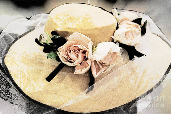 Photograph - Roses Blooming On Lady's Hat by Heiko Koehrer-Wagner