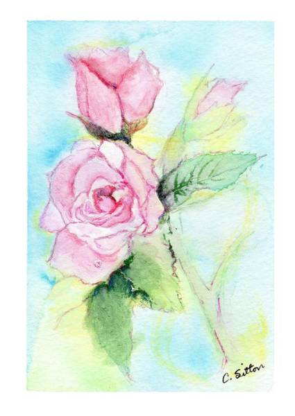Painting - Roses by C Sitton