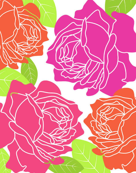 Pink Flower Painting - Roses I by Tamara Robinson
