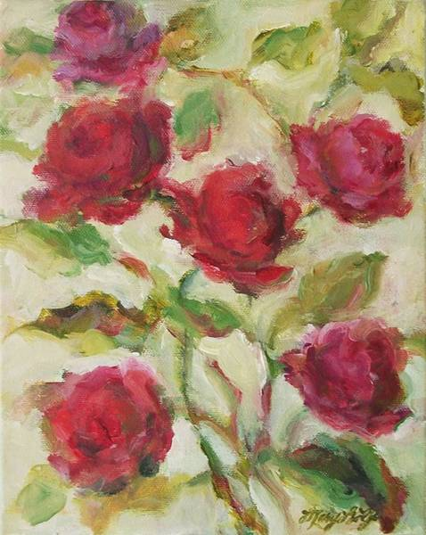 Painting - Roses by Mary Wolf