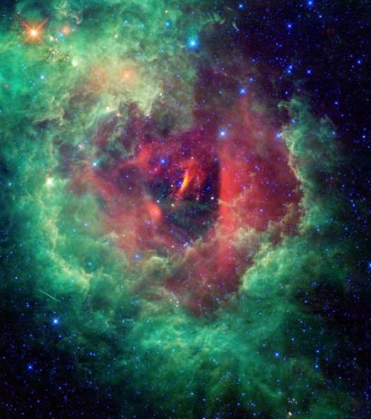 Ir Photograph - Rosette Nebula by Nasa/jpl-caltech/ucla/science Photo Library