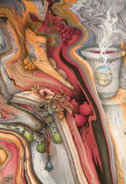 Shofar Wall Art - Painting - Rosh Hashanah Meditation by Michoel Muchnik