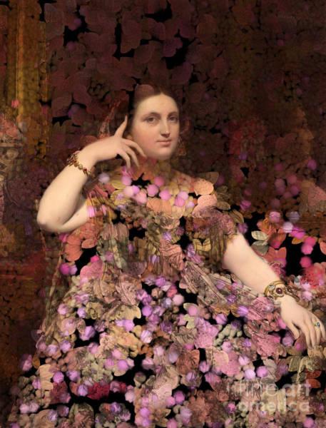Wall Art - Digital Art - Rosita - Des Femmes Et Des Fleurs by Aimelle