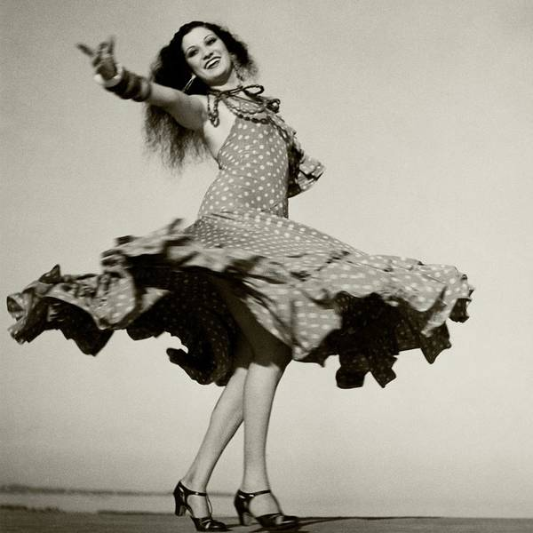 January 1st Photograph - Rosita Montenegro Dancing by Roger Schall
