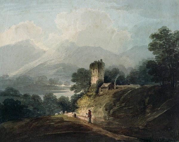 Irish Landscape Photograph - Ross Castle, Killarney, County Kerry Wc On Paper by James Bayes