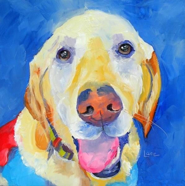 Dane Mixed Media - Ross The Super Dog by Saundra Lane Galloway