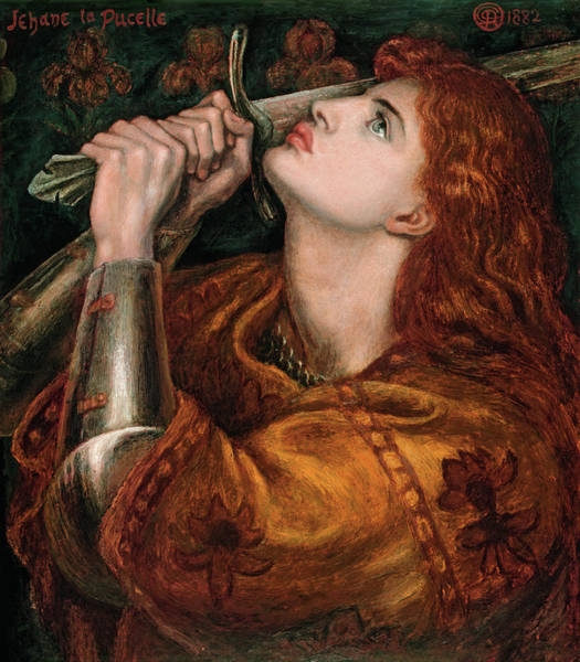 Wall Art - Painting - Rossetti Joan Of Arc, 1882 by Granger