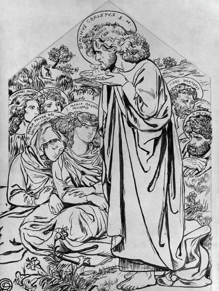 Wall Art - Drawing - Rossetti Sermon, C1861 by Granger