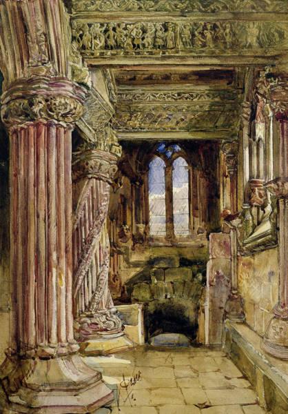 Church Of Scotland Wall Art - Painting - Rosslyn Chapel, Scotland by Alexander Jnr Fraser