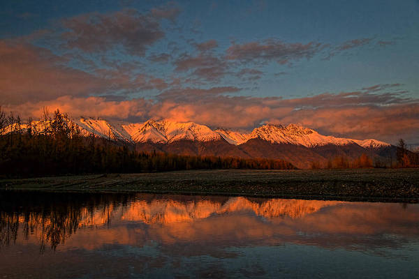 Photograph - Rosy Alaska Sunset by Wes and Dotty Weber