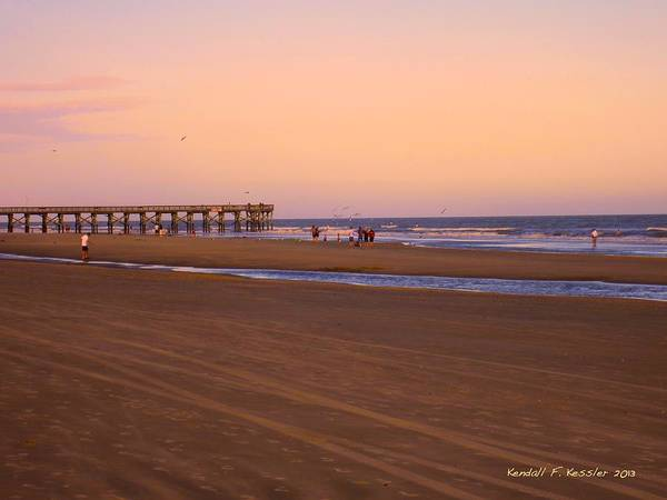 Photograph - Rosy Evening At Isle Of Palms by Kendall Kessler
