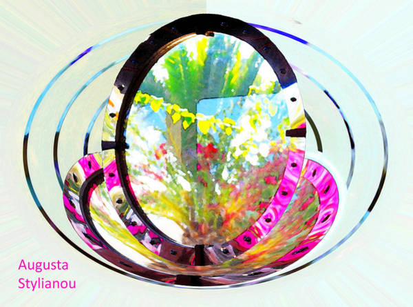 Rotating Digital Art - Rotating Flowers by Augusta Stylianou