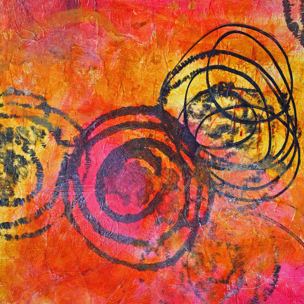 Medallion Wall Art - Painting - Rotation Abstract by Nancy Merkle