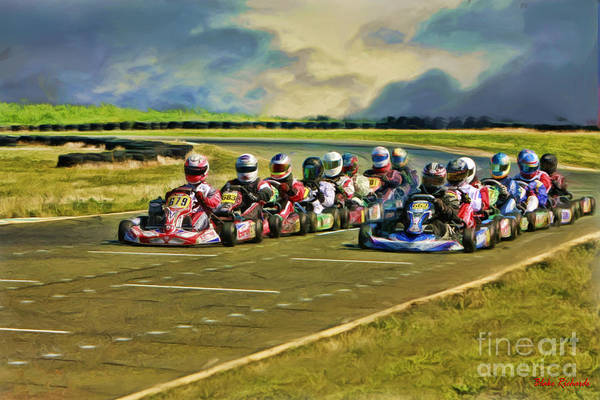 Photograph - Rotax Challenge Of The Americas Masters Grid by Blake Richards