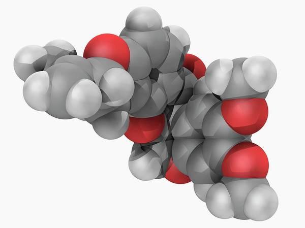 Compound Photograph - Rotenone Molecule by Laguna Design/science Photo Library