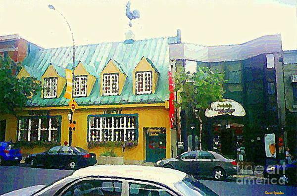 Painting - Rotisserie Laurier Paintings Documenting Vintage Restaurants Montreal Art Carole Spandau City Scene by Carole Spandau