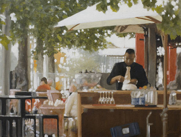 Painting - Rotterdam Street Cafe by John Silver