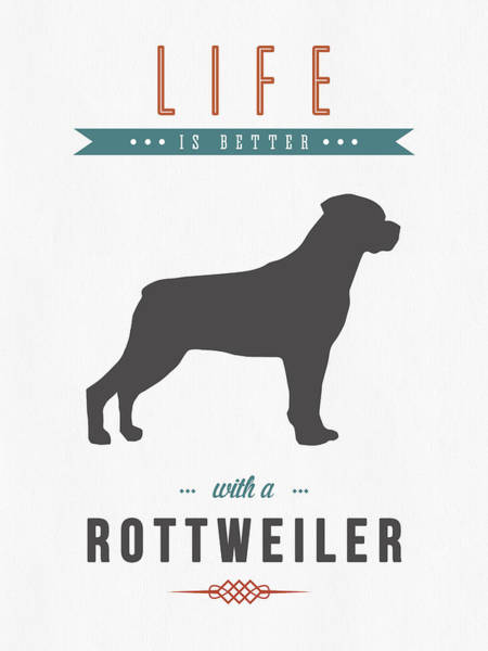 Quote Digital Art - Rottweiler 01 by Aged Pixel