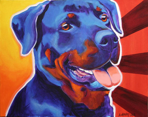 Rottweiler Painting - Rottweiler - Baloo by Alicia VanNoy Call
