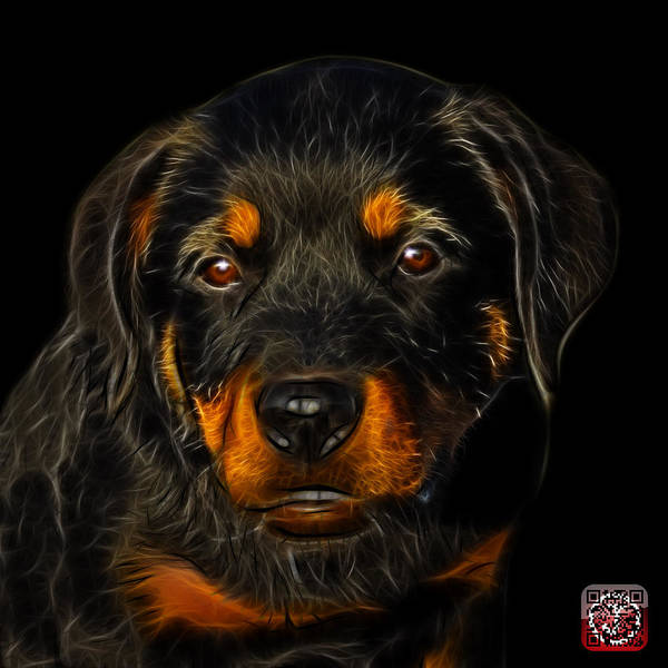 Painting - Rottweiler Pop Art 0481 - Bb by James Ahn