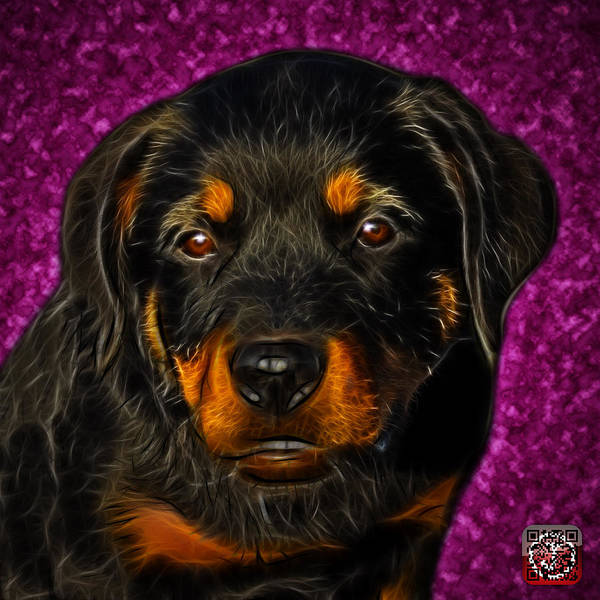 Painting - Rottweiler Pop Art 0481 - Bc1 - Pink by James Ahn
