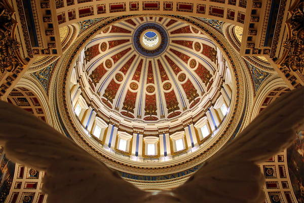 Harrisburg Pa Photograph - Rotunda Dome On Wings by Joseph Skompski