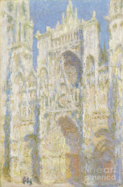 Cathedral Painting - Rouen Cathedral West Facade by Claude Monet