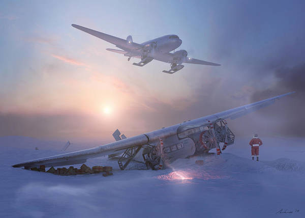 3 Painting - Rough Night At The North Pole by Hangar B Productions