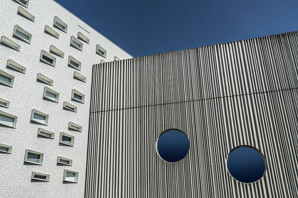 Facade Photograph - Round & Rectangular by Luc Vangindertael (lagrange)