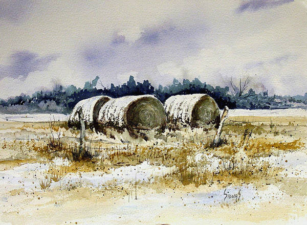 Painting - Round Bales by Sam Sidders