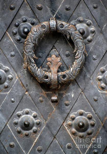 Photograph - Round Metal Doorknob by Jaroslaw Blaminsky