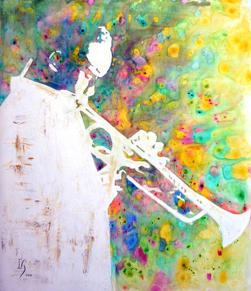 Sax Painting - Round Midnight by Ivan Guaderrama