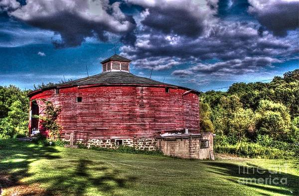 Vernon County Photograph - Round Red Barn by Tommy Anderson