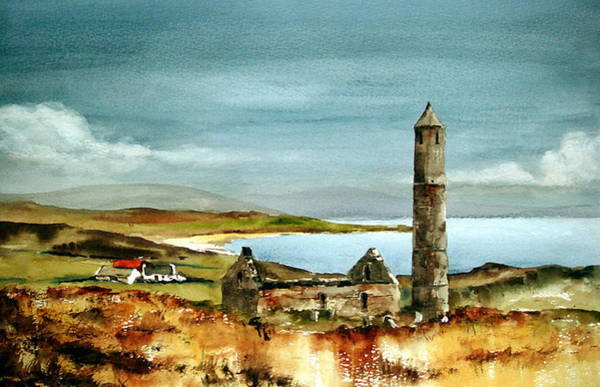 Painting - Round Tower Waterford by Val Byrne