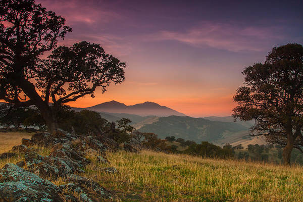 Mt. Diablo Wall Art - Photograph - Round Valley After Sunset by Marc Crumpler