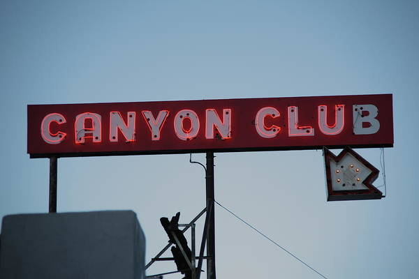 Photograph - Route 66 - Canyon Club Neon by Frank Romeo