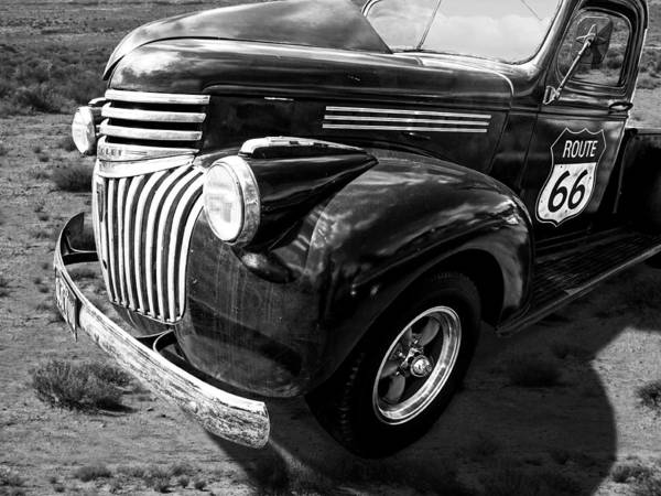 Photograph - Route 66 Chevy 1941 In Black And White by Gill Billington