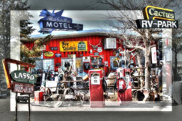 Photograph - Route 66 Collage by Gary Gunderson