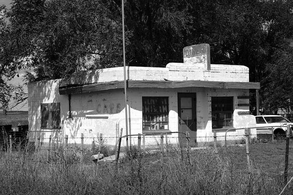 Photograph - Route 66 Diner 2008 Bw by Frank Romeo