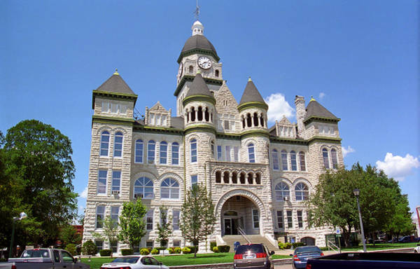 Courthouse Towers Wall Art - Photograph - Route 66 - Jasper County Courthouse by Frank Romeo