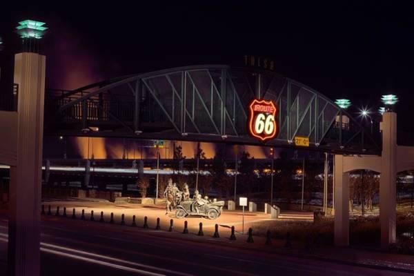 Centennial Bridge Photograph - Route 66 by JC Findley