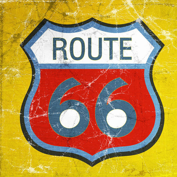 Wall Art - Painting - Route 66 by Linda Woods