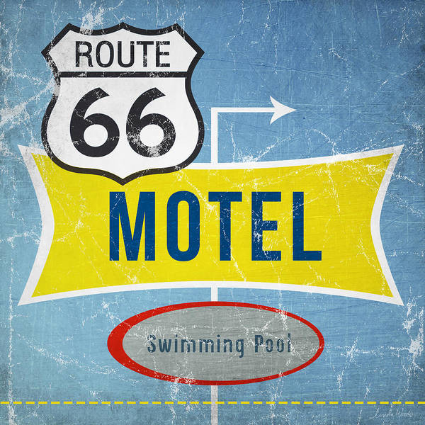 Dorms Wall Art - Painting - Route 66 Motel by Linda Woods