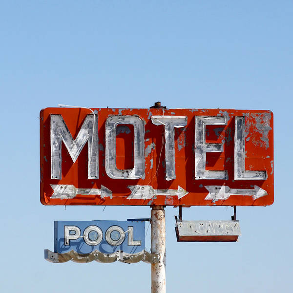 Tin Sign Photograph - Route 66 Motel Sign by Art Block Collections